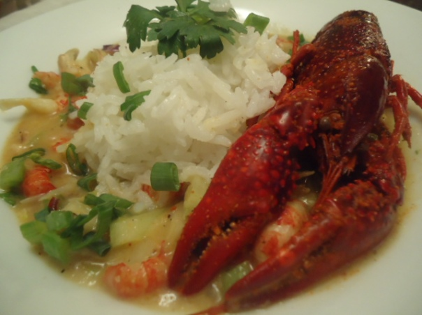 Crawfish Etouffee with Steamed Jasmine Rice