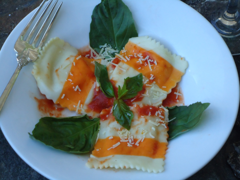 Asparagus and Greuye Cheese Ravioli