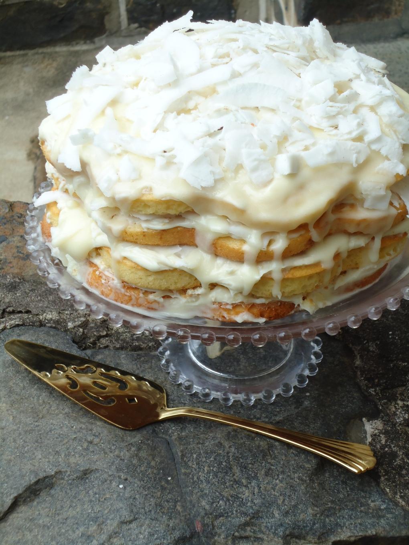 Fresh Coconut Layered Cake