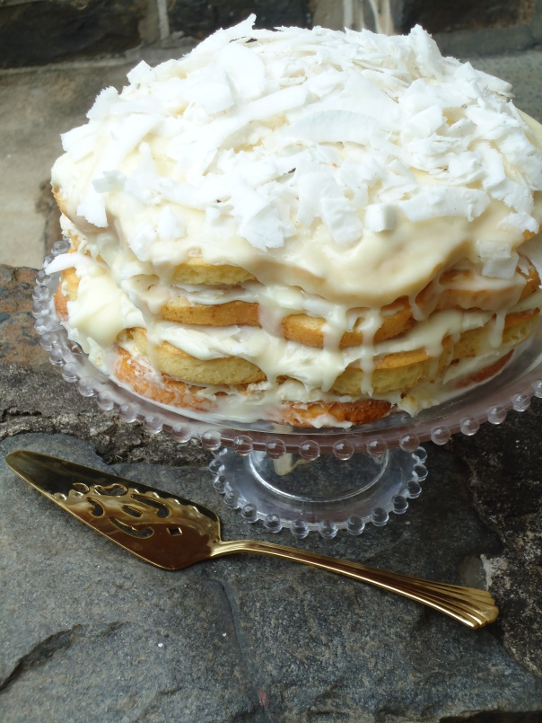 Fresh Coconut Layered Cake