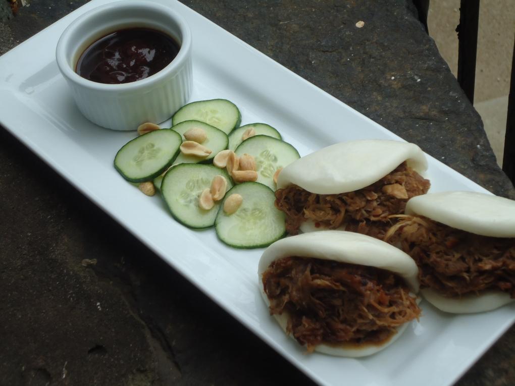 Char Siu Style Buns with Peanut Cucumber Salad