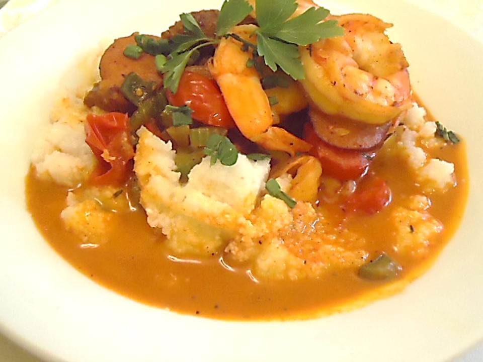 Shrimp and  Creamy Cheesy Grits
