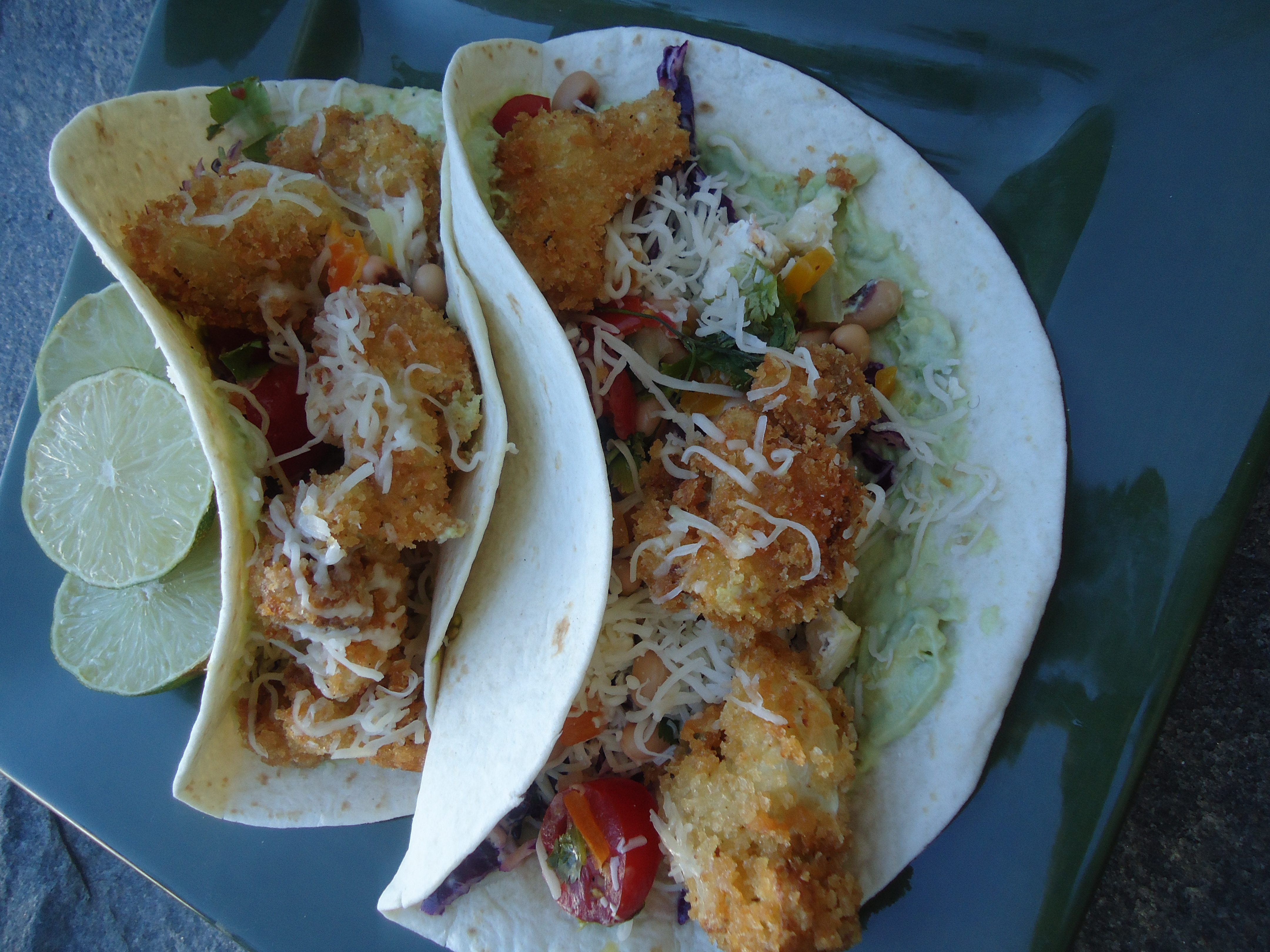 Fried Cauliflower Tacos On The Menu Tangie S Kitchen
