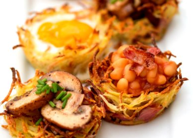 Mini-Hash-Brown-Breakfast-Nests food viral creek