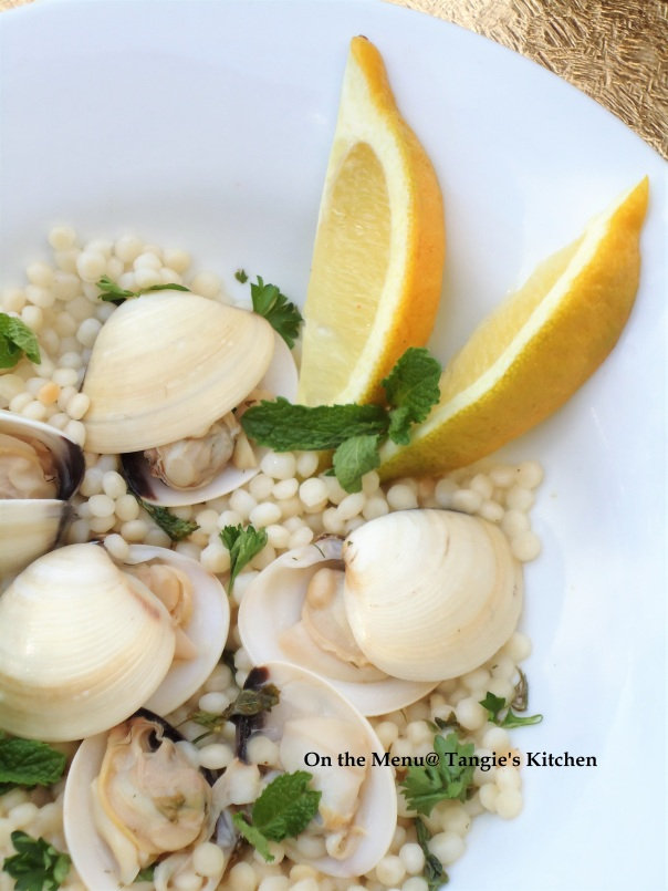 Little Neck Clams and Couscous | On the Menu @ Tangie\'s Kitchen